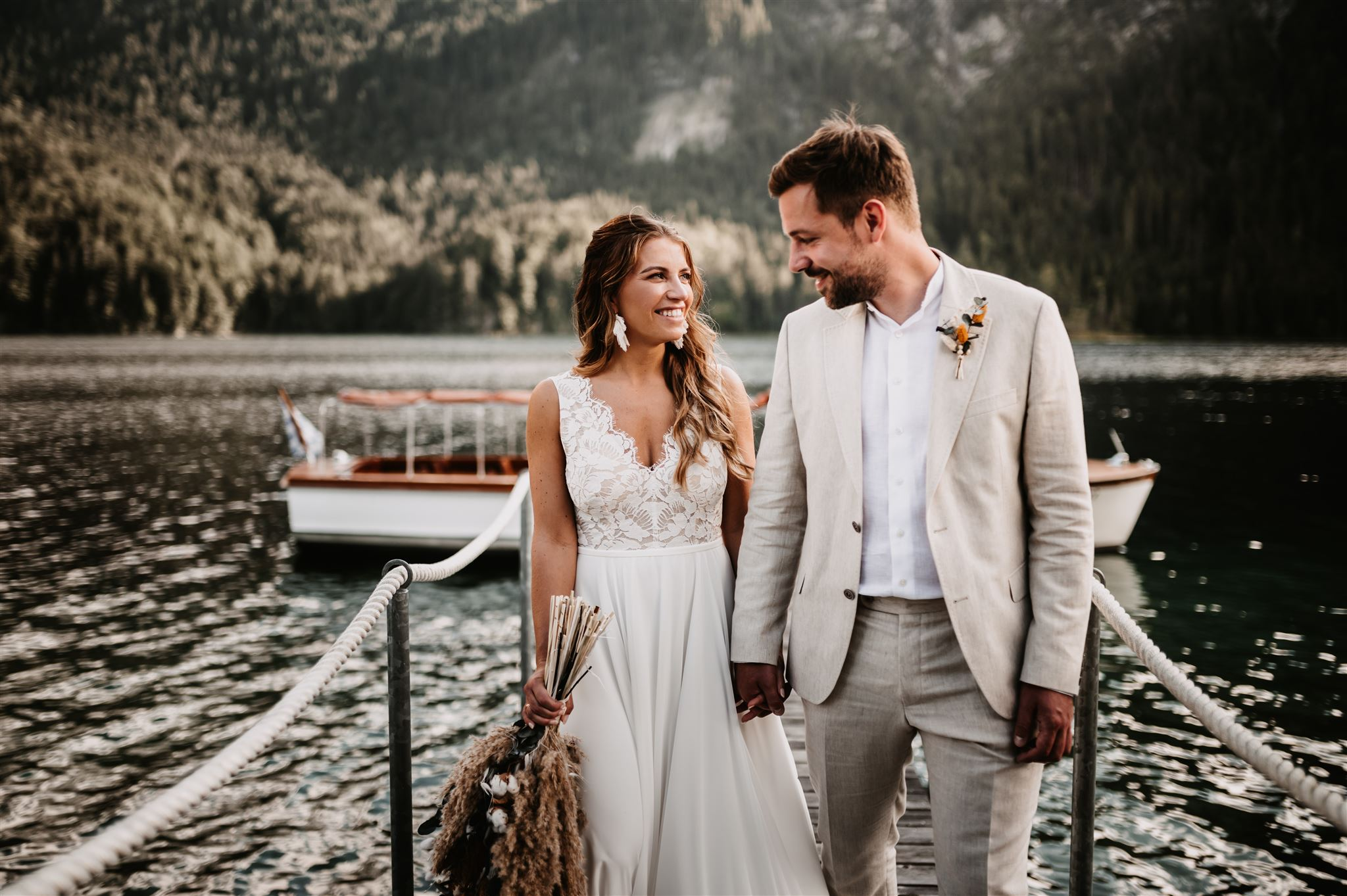 Dreamy Bohemian Elopement on Lake Eibsee in Bavaria